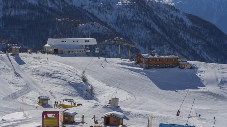 Ski Area Valtournenche, arrivo della Pista 1 del comprensorio