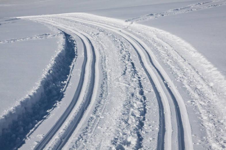 Pista da sci di fondo di Champlève, vicino a Cervinia